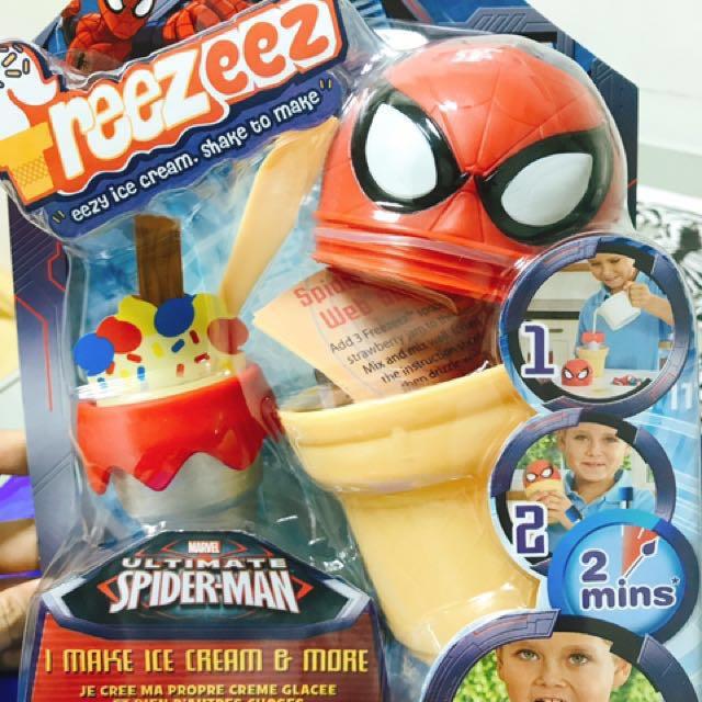 [全新/免運費] 英國Freezeez 手搖式DIY製冰甜筒-蜘蛛人