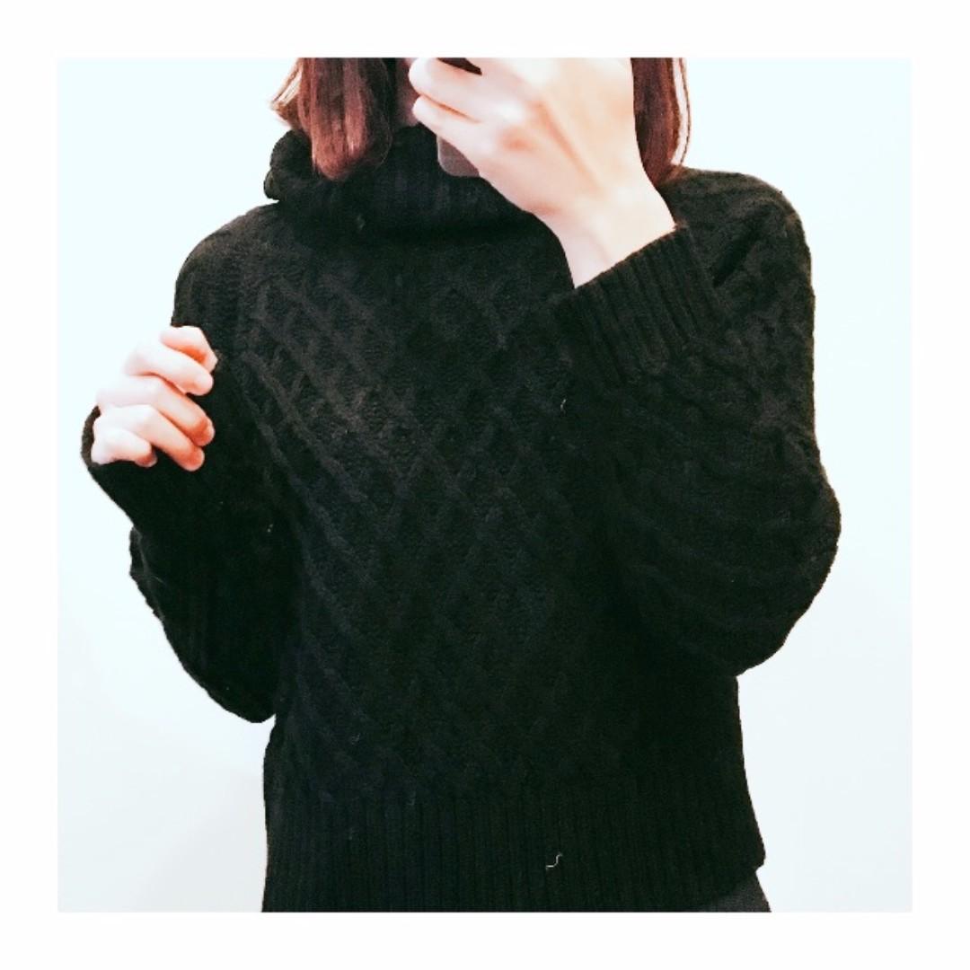 日本 majestic legon 高領菱格毛衣