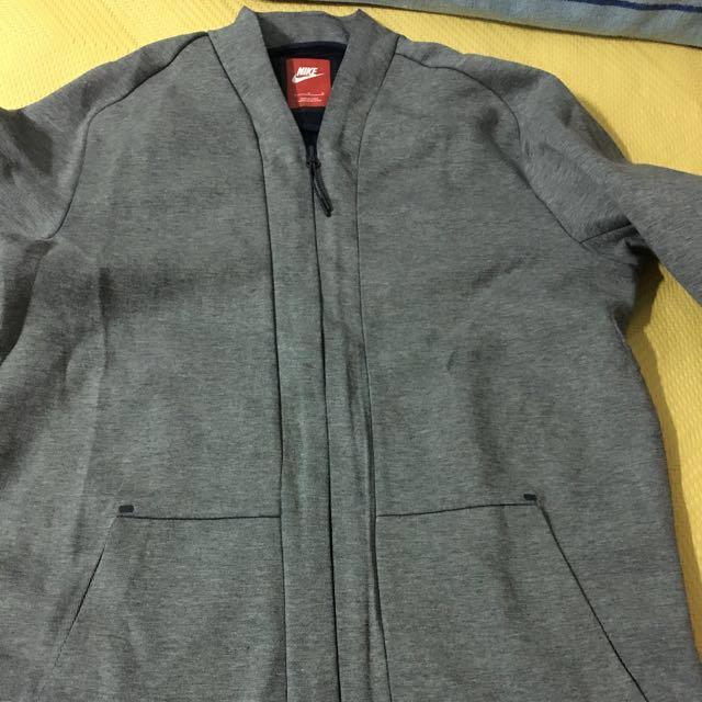 二手美品 nike fleece 科技棉 灰色 L號