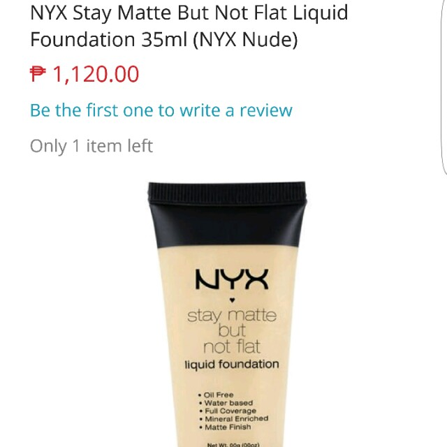 Super sale!!@ 🌷 NYX stay matte but not flat liquid foundation  🌷
