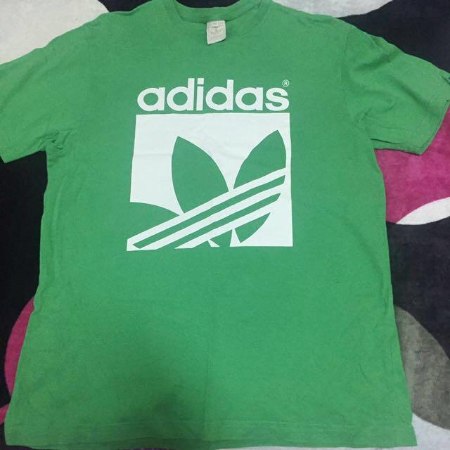 綠色adidas短袖T恤M🦎