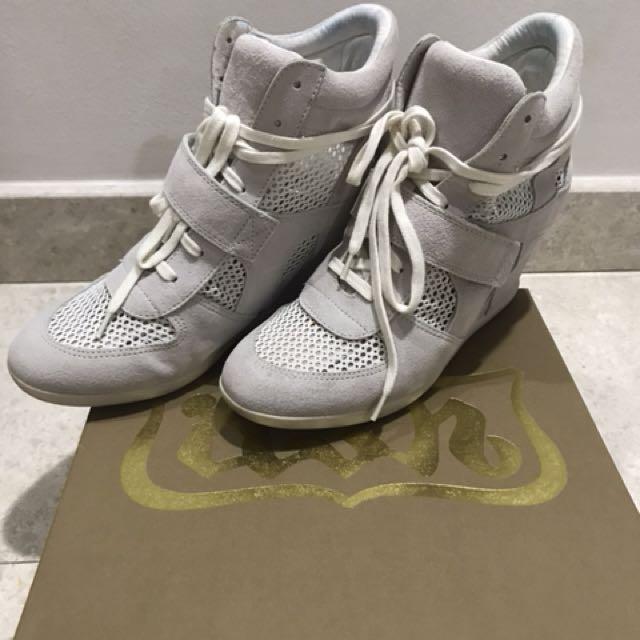 4659061ecf92 ASH Bowie Womens Wedge Sneaker Bistro Suede