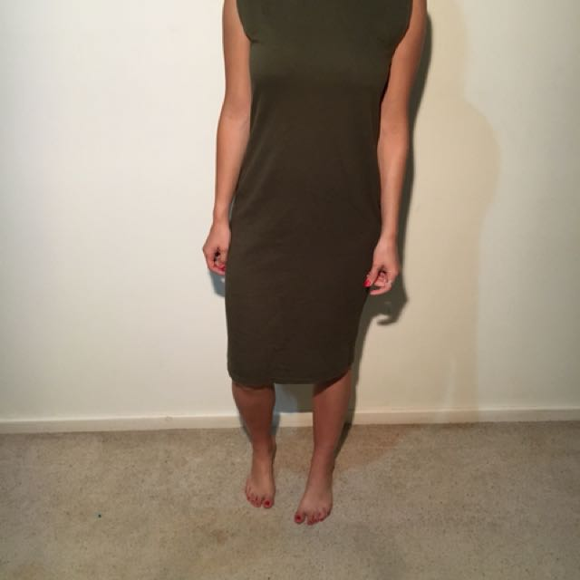 ASOS khaki Dress