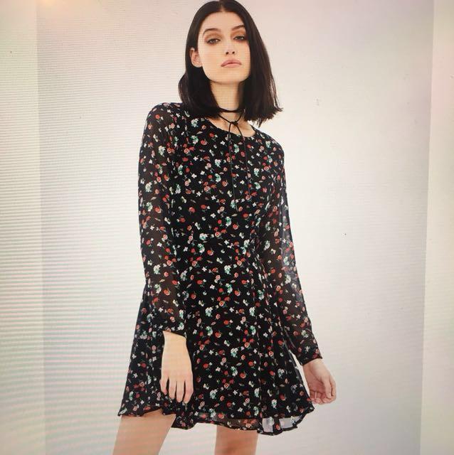 Atmos & Here Chiffon Mini Dress Size 6
