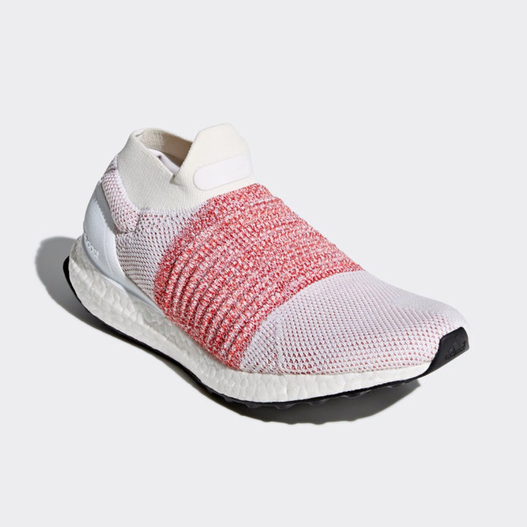 1a9c8f0a6639e Authentic Adidas ULTRABOOST LACELESS 4.0 White Pink