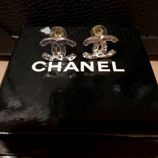 Authentic Vintage Chanel Clip On Earrings