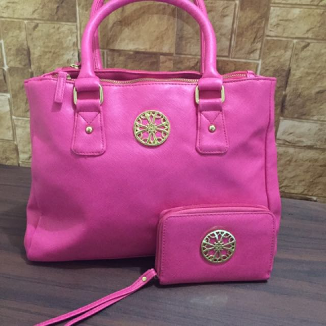 Avon pink bag and wallet (imported)