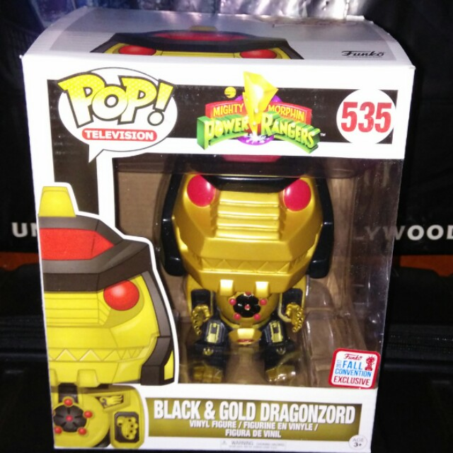 "(ON HAND) Black & Gold Dragonzord 6"" Power Rangers Exclusive Funko Pop"