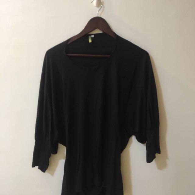 Black Oversized Top