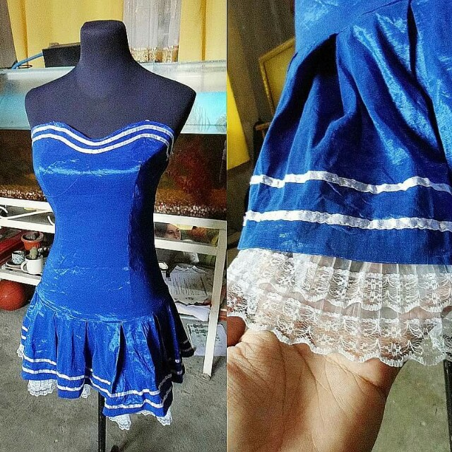 Blue Cheerleader Outfit/Costume