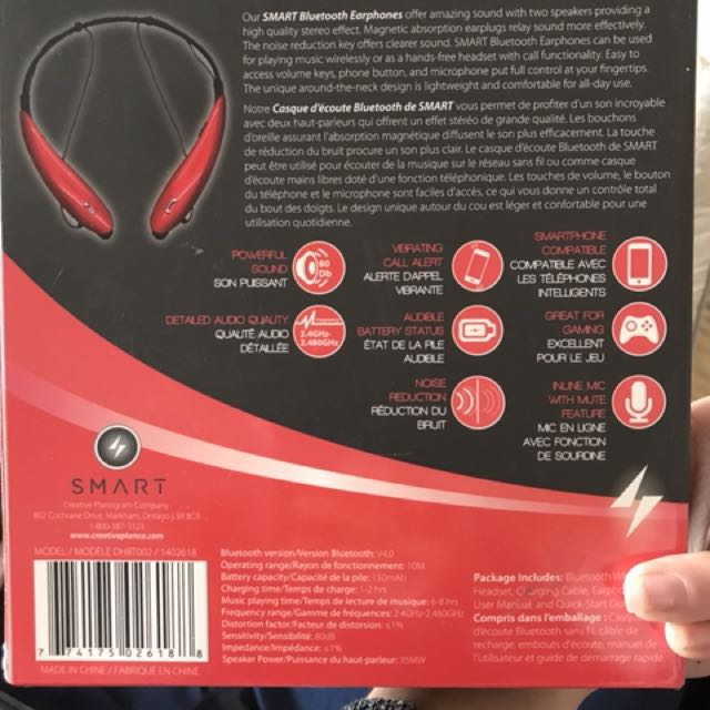 Bluetooth head phones