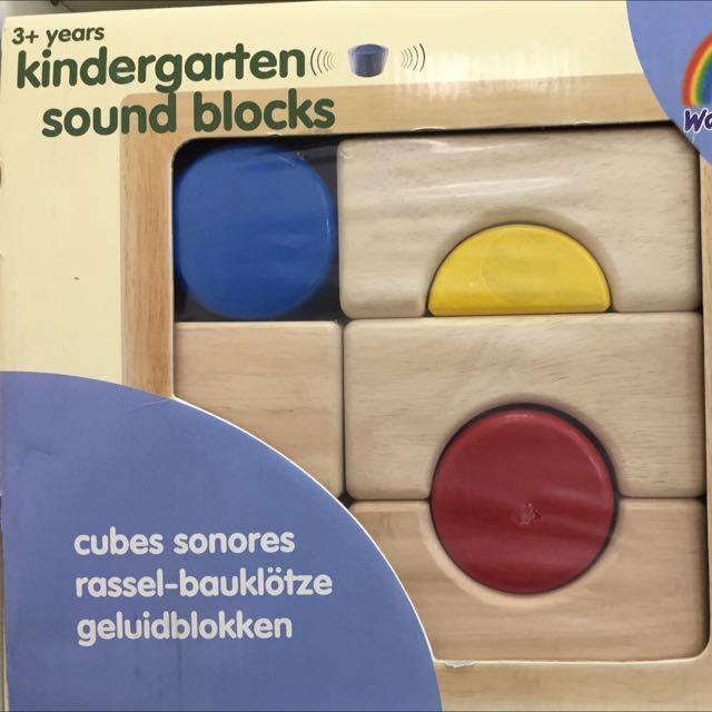 Bnib Kindergarten Sound Blocks By Wonderworld Babies Kids On