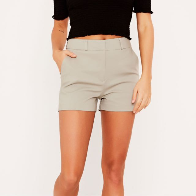 BNWT Glassons Dress Shorts In Olive Size 6