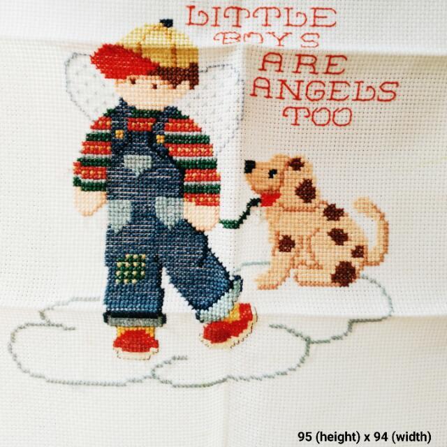 Boy Guardian Angel Cross-stitch