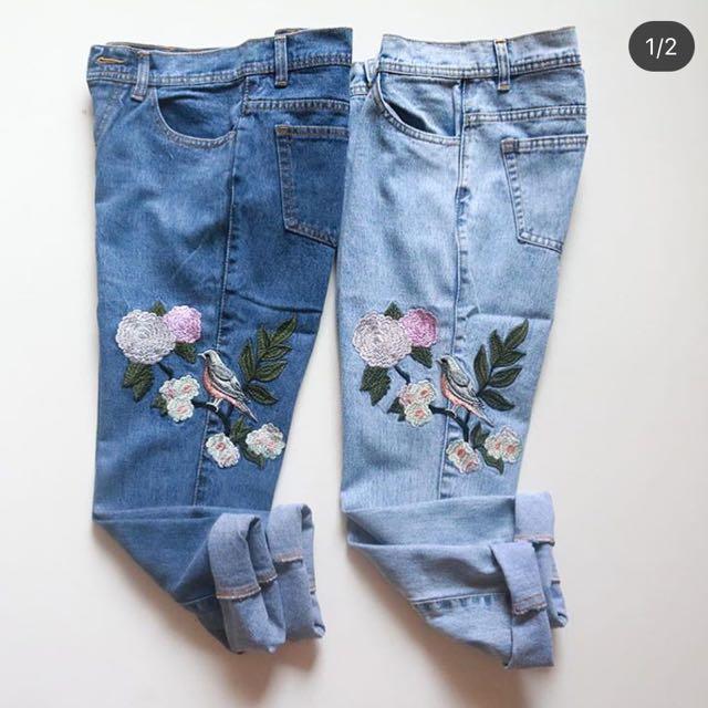 boyfriend jeans bird