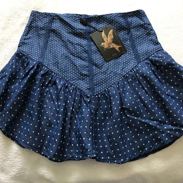 Brand new One teaspoon polka dot skirt size xs