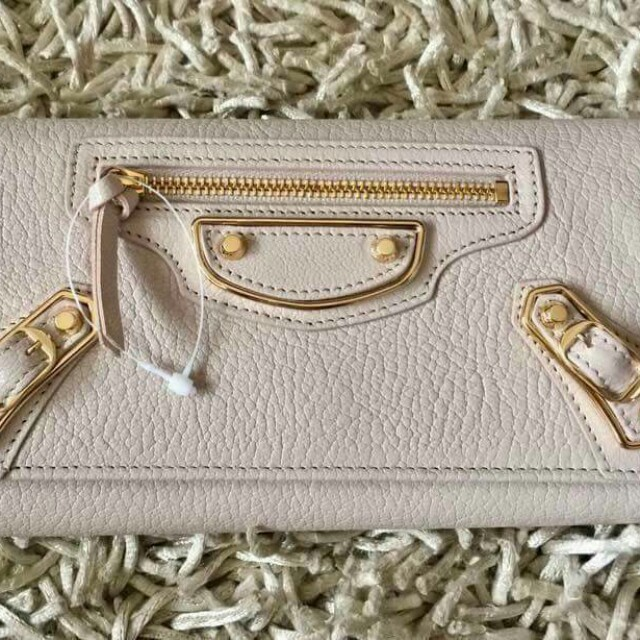 Brandnew balenciaga metallic edge money continental wallet
