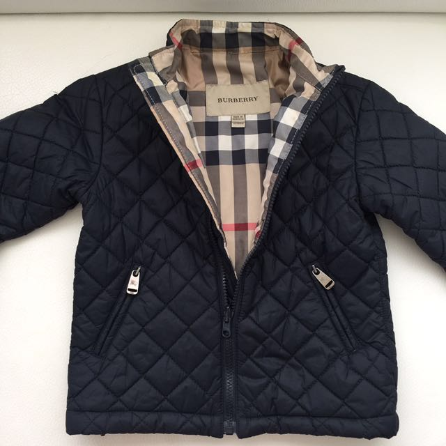 秋冬BURBERRY 男童2件式可拆分開穿防風外套