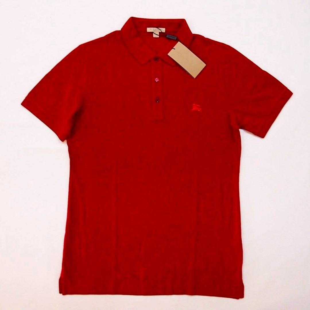 dd623a931fc Burberry Brit men s red pique polo shirt