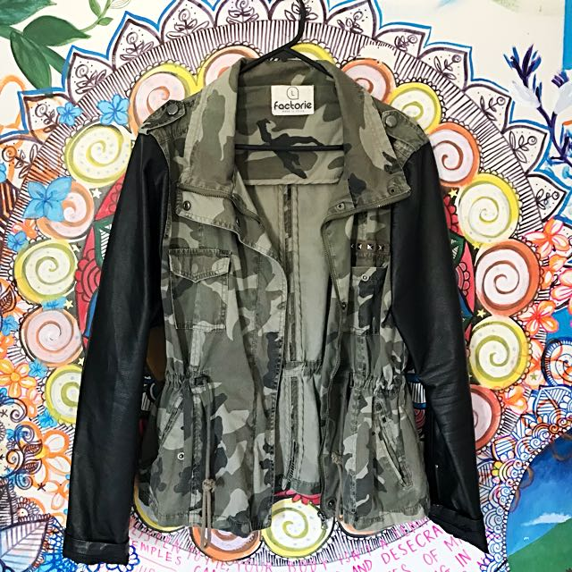 Camo Parker Style Jacket