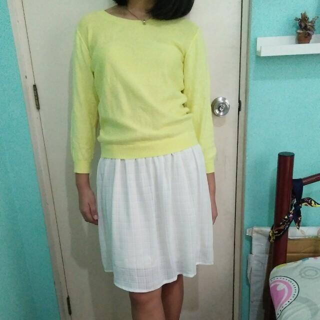 Canary light soft knit dress