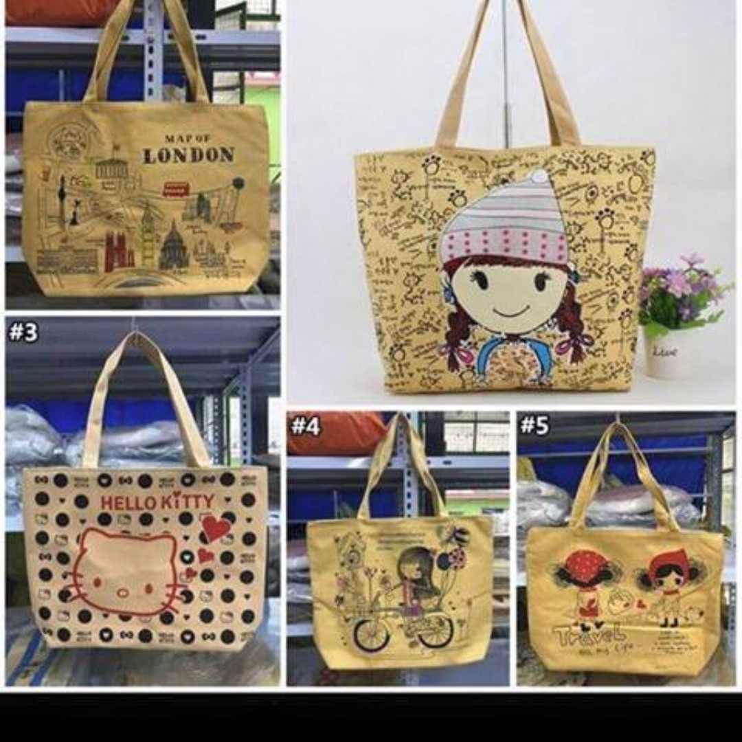 Canvass bag with design