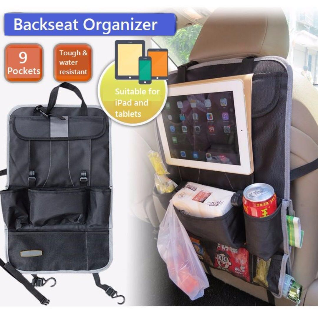 Car Back Seat Organizer Type 1 Car Accessories On Carousell