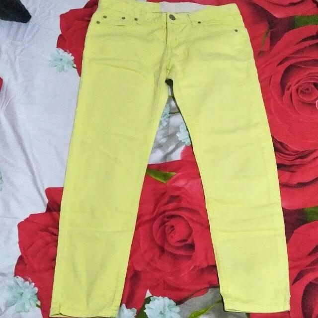 Celana jeans yellow
