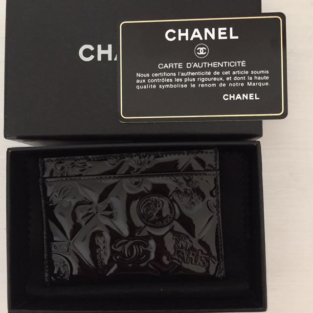 CHANEL 信用卡 悠遊卡 名片 漆皮印花夾預購