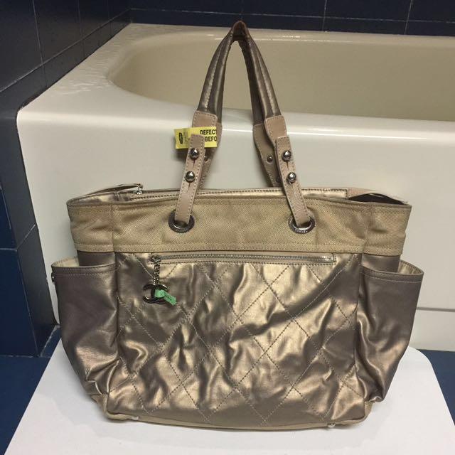 Chanel Gold Paris Biarritz Tote / Diaper Bag