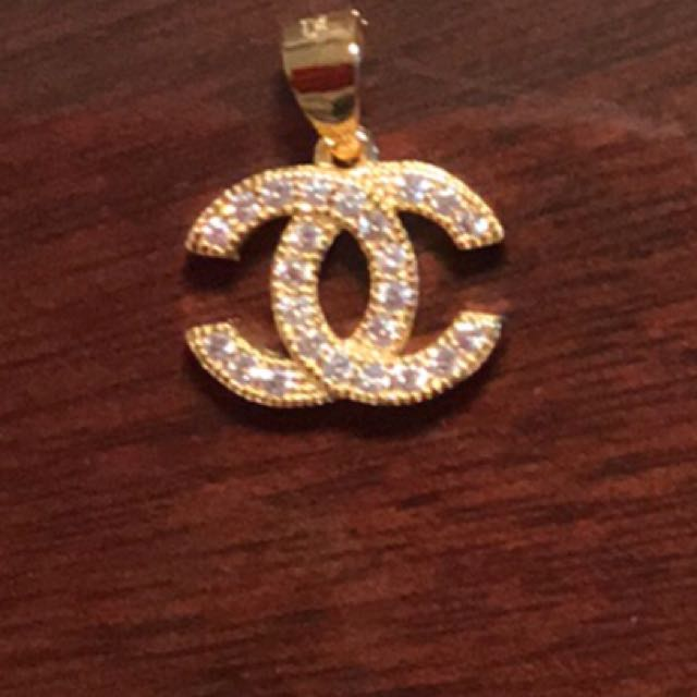 Chanel inspired 925 sterling silver pendants gold or white gold plated