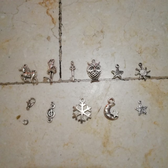 Charms with organizer box