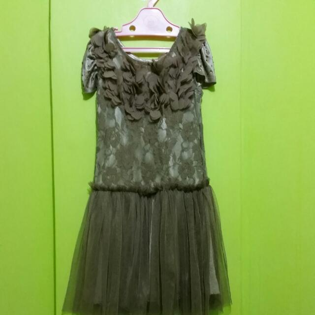 Chiffon Brown Lace Dress