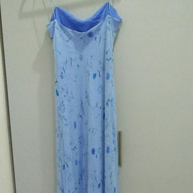 Chiffon flowy floral print maxi dress