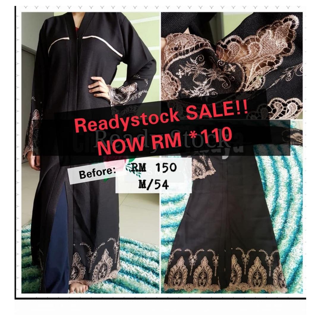 Clearance Sale Readystock Abaya Dubai Muslimah Fashion Dresses On Hitam Arab Gold Carousell