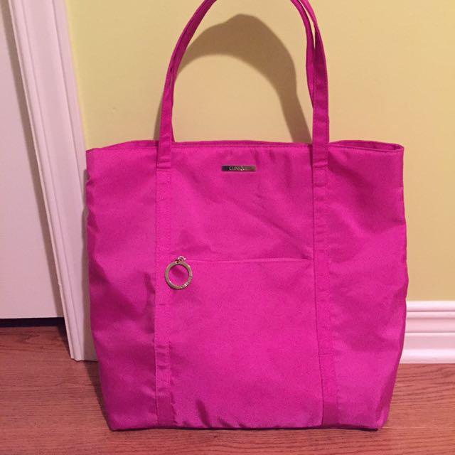 Clinique pink bag