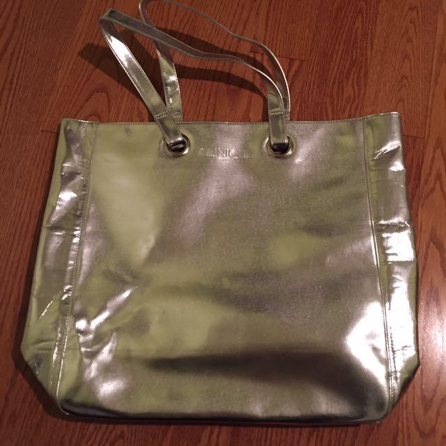 Clinique silver bag
