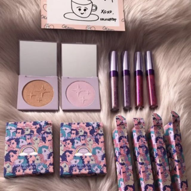 Colourpop My Little Pony Collection - highlighters, lipsticks