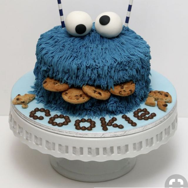 Cookie Monster Cake, Food & Drinks, Baked Goods On Carousell