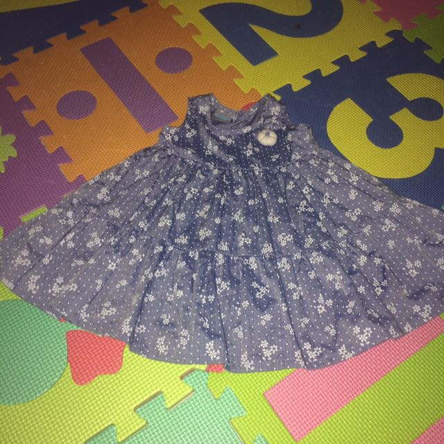 Cute baby maong dress