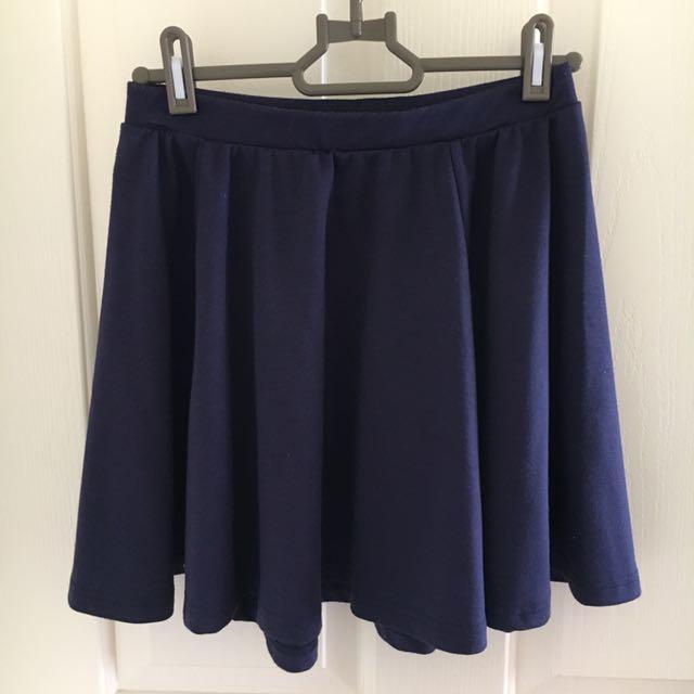 Dark Purple Pleated skirt