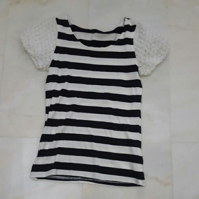 ec536e0a8d5459 Dip Drops Nautical Blouse, Women's Fashion, Clothes, Tops on Carousell