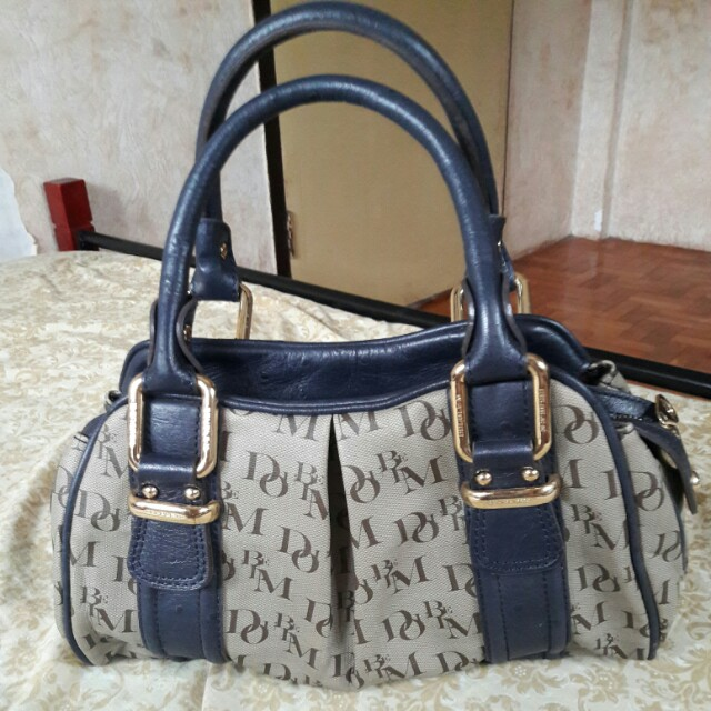 Double M Milano Leather Canvas Bag