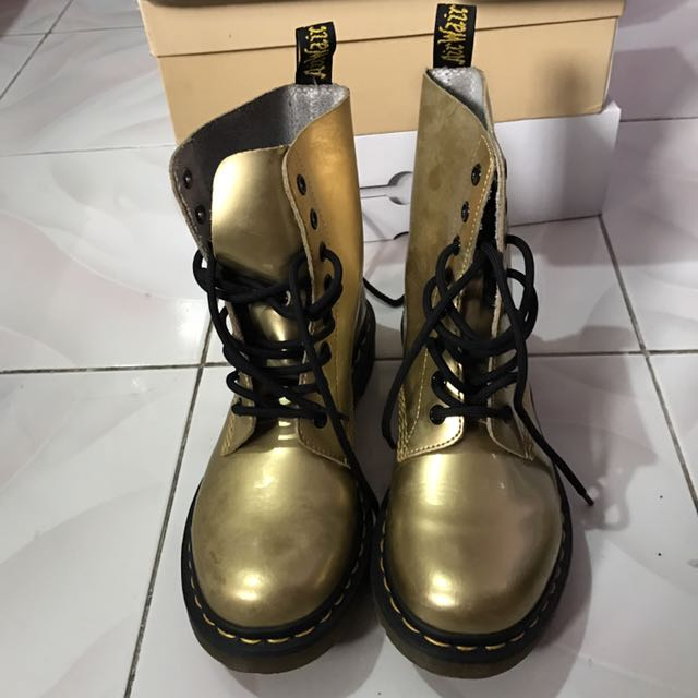 Dr. Martens Pascal Gold Boots