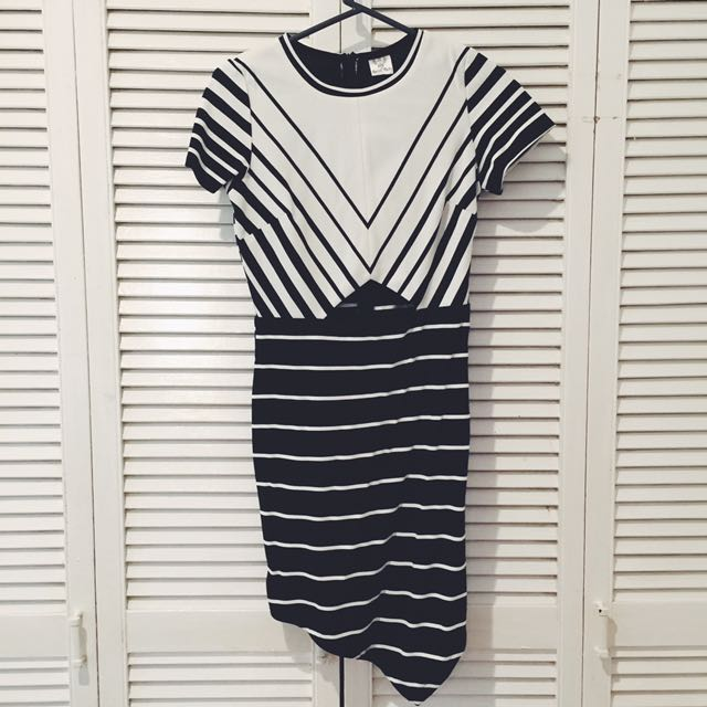 Dress with Triangle Cut Out