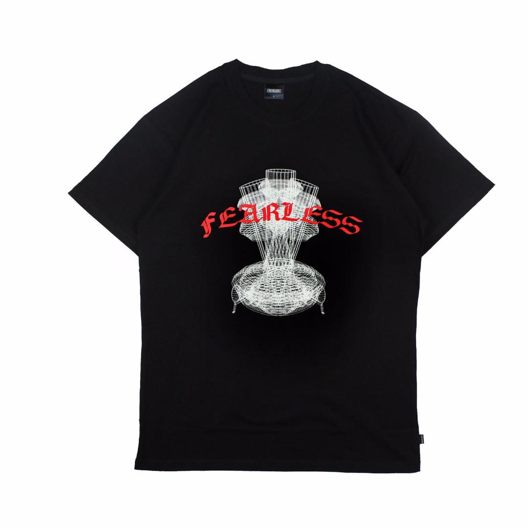 【限時七折】FEARLESS  Gothic Bong Tee 短Tee 短袖Tee 哥德 字體 Tee 黑色