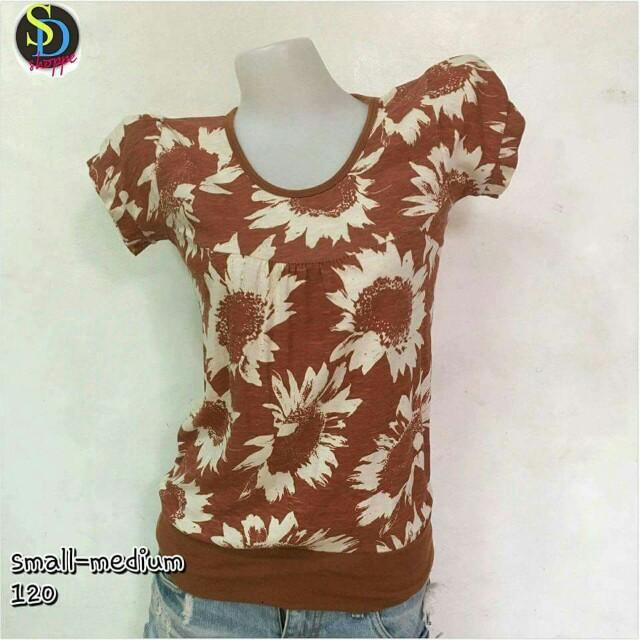 Floral Brown Top