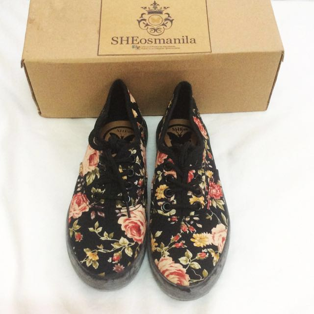 Floral Sneakers/Shoes