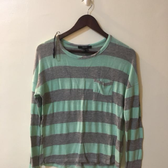 Forever 21 - Mint Green/ Gray Sweater