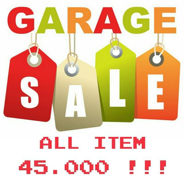 GARAGE SALE 45.000 ALL ITEM